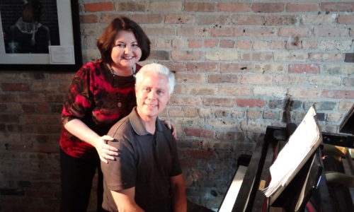 Tom and Barb at the piano