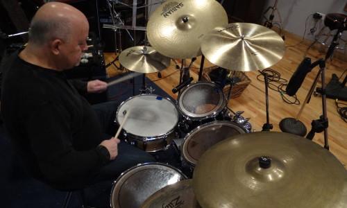 Denny Murray in the studio